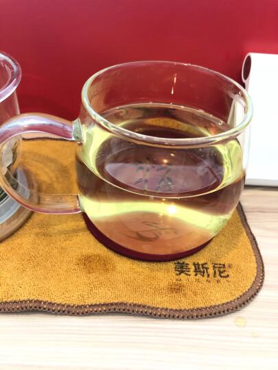 美斯尼 加厚玻璃茶杯茶具竹盖带把手茶水分离杯子过滤网不锈钢内盖耐高温加热男女士玻璃大号马克杯三件套装 300毫升 晒单图