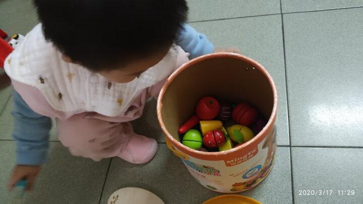 铭塔过家家儿童益智玩具 积木木制婴幼儿宝宝男女孩仿真厨房 1-2-3-6岁蔬菜水果切切乐儿童节礼物 晒单图