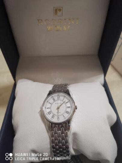 罗西尼(ROSSINI) 手表 启迪系列简约百搭石英女表双日历罗马时符白盘钢带6356W01G 晒单图