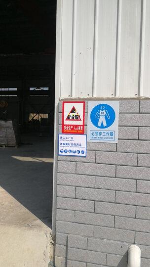 施工标牌  PVC警示标语 必须戴安全帽 必须系安全带 必须穿防护鞋 必须系列标识牌 必须戴防毒面具 30*40CM 晒单图