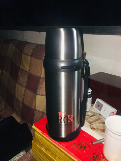 富光 大容量真空不锈钢保温壶 家用户外运动保温杯具 旅行车载保温水壶 1.8L 玫红色 晒单图
