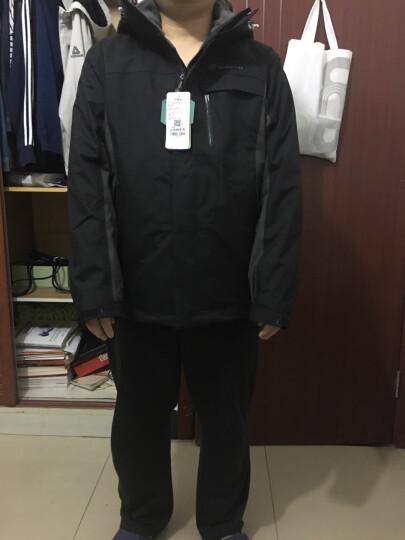 探路者(TOREAD)冲锋衣 三合一户外男女款抓绒两件套 保暖防寒防泼水外套 TAWE91603 莺茶色/栗棕(男)XL 晒单图