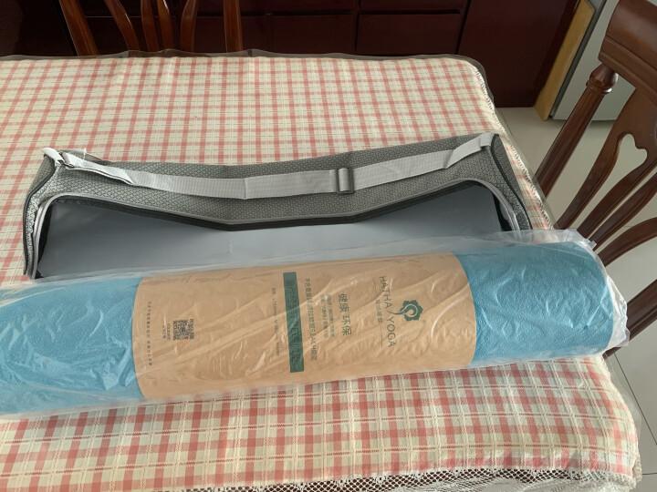 哈他 瑜伽垫TPE 厚度6mm长度183cm 加长加厚防滑男女健身垫运动垫瑜伽毯 紫玉兰-加宽升级66cm送升级包 晒单图