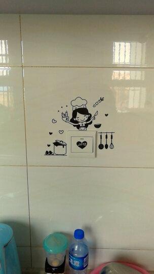 麦朵 卡通开关贴插座保护贴墙贴画贴纸墙面墙壁装饰品 厨房小妞 小号 晒单图