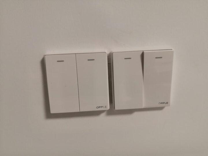 OPPLE 欧普照明家用墙壁五孔插座暗装5孔二三插空调86型带开关插座白色面板K05 电话电脑 晒单图