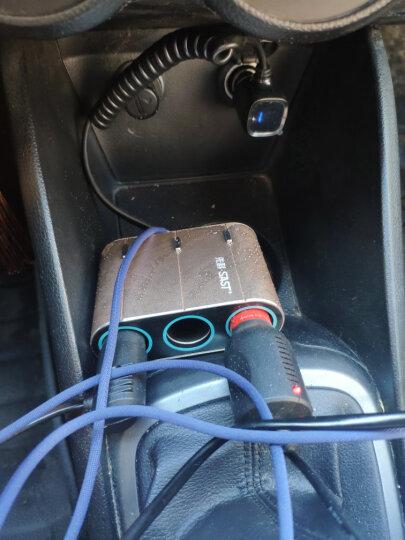 先科(SAST) 车载充电器 车充点烟器 T58银色 4.8A四USB一拖三 电压检测LED数显 独立开关 晒单图