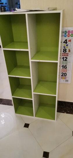 慧乐家 书架书柜小柜子 京东配送收纳柜简易组合书柜 彩色七格储物置物陈列柜 绿白色 11048-2 晒单图