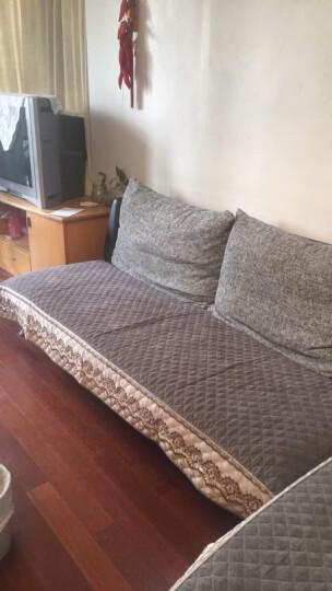 四季纯棉沙发垫布艺套装罩全包欧式沙发巾垫子坐垫飘窗垫 几何-【全棉面料 亲肤防滑 】 90*90cm(单条装) 晒单图