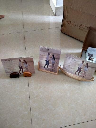 初心(CHOSIN)实木相框摆台创意婚纱照画框7寸全家福亚克力相架儿童实木相框 U形相框竖款(胡桃木)7寸 晒单图