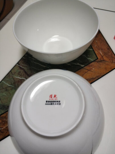 煜乾 汤碗泡面碗沙拉碗7英寸8英寸1个装大汤碗陶瓷景德镇骨瓷蝴蝶兰青花瓷碗釉中彩 8英寸大汤碗,口径20.5厘米 晒单图