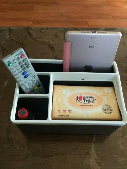 FaSoLa 日式桌面收纳盒  遥控器收纳盒 茶几办公室客厅创意组合纸巾盒 多功能纸巾收纳盒 晒单图