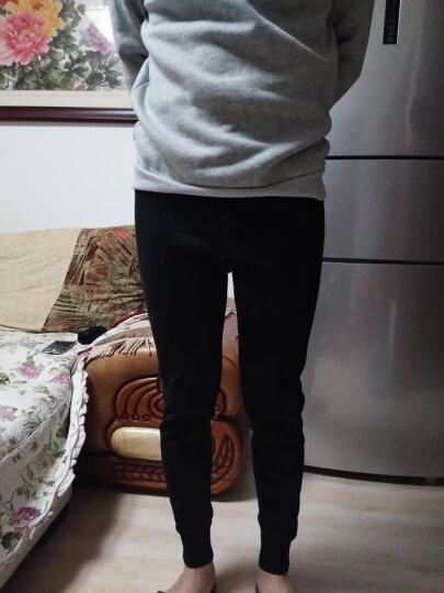 恒源祥男士羊毛裤 加厚保暖羊毛莫代尔护膝贴片修身打底裤 上青170/95 晒单图