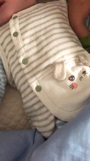 南极人 婴儿连体衣纯棉开档爬服彩棉宝宝衣服 两用裆棕色小熊 66(适合3-6月宝宝) 晒单图