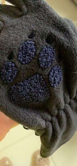 JACK WOLFSKIN狼爪男女通用手套秋冬户外保暖防风透气舒适抓绒手套1902381 紫红色1902381-1117 L 晒单图