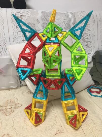 铭塔128件套磁力片积木玩具 儿童小孩男孩女孩宝宝2-3-4岁 拼装早教智力收纳盒装 晒单图