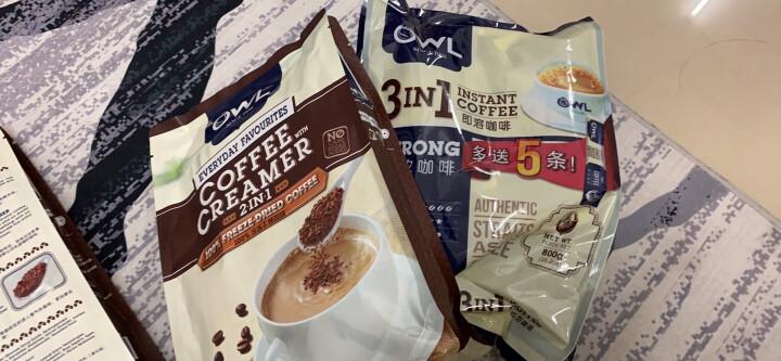 马来西亚进口 猫头鹰(OWL) 三合一特浓速溶咖啡粉 800g(40条x20g) 晒单图