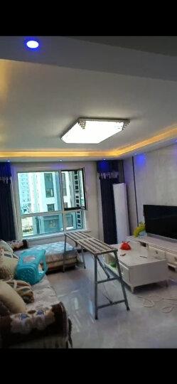 金幻LED吸顶灯客厅灯长方形水晶灯具套餐简约现代灯饰 超大客厅三色调光160W110*80 适25-40 晒单图