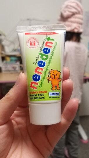 昵昵乐儿童牙膏进口德国原装宝宝牙膏2岁可吞咽2-12岁换牙期防蛀牙 苹果含氟 晒单图