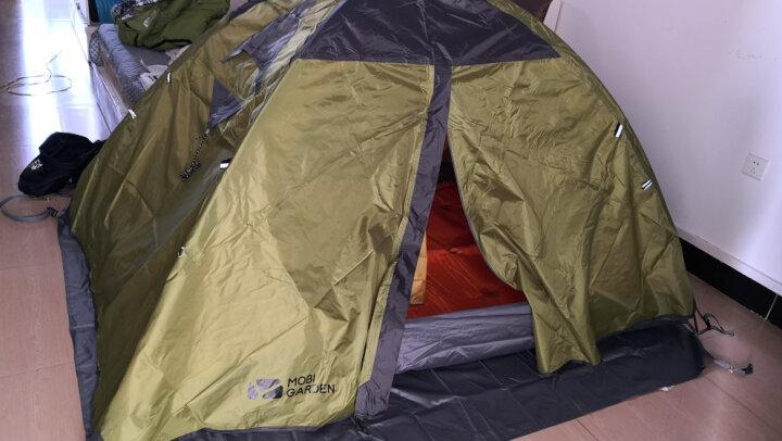 牧高笛 野外露营防风防暴雨三季铝杆双人双层帐篷 冷山2 驴友强推 MZ093005 蓝色 晒单图