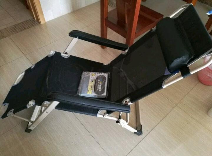 凯速KANSOON折叠椅折叠床陪护床午睡床坐躺两用178版折叠躺椅(双方管加宽)FC31藏青色 晒单图