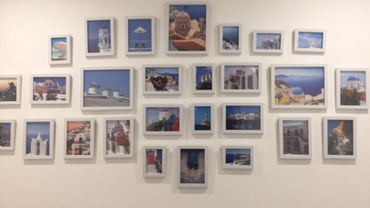 品美(pinmei) 超大客厅照片墙 相框墙欧式相框创意挂墙组合 心形相片墙 白玫红送唯美百花画芯 晒单图