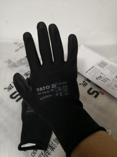 YATO劳保手套防割防护耐磨防滑尼龙内胆减震抗高温弹性手套 丁晴胶尼龙手套10'' YT-7474 晒单图