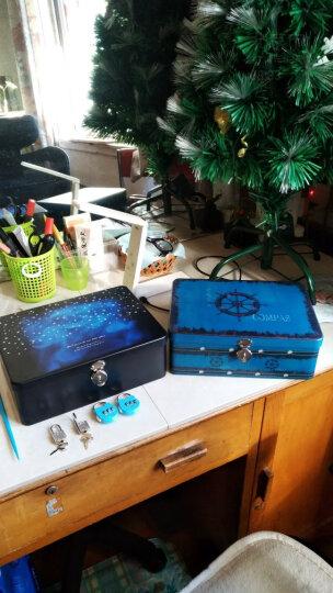 随想曲 带锁收纳盒铁盒子保险箱创意桌面整理储物箱化妆品珠宝首饰盒创意礼品密码锁保险盒 浪漫巴黎-大号 晒单图