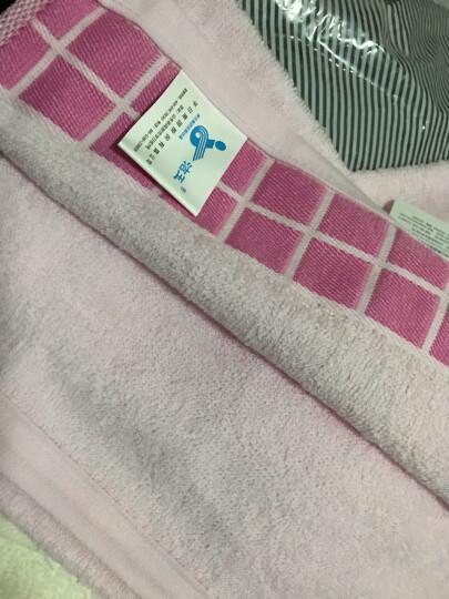 孚日洁玉纯棉毛巾 定织时尚简洁柔肤成人洗脸巾4条装 米*2+粉*2  32*70cm 晒单图