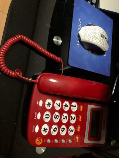 美思奇(MSQ)电话机座机 固定电话 办公家用 10组快捷拨号 免提通话 8018(免提款)红色 晒单图