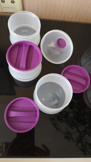 NUK奶粉分装盒定量储存盒婴儿便携外出装奶粉格辅食存储盒(新老款颜色随机发货) 晒单图
