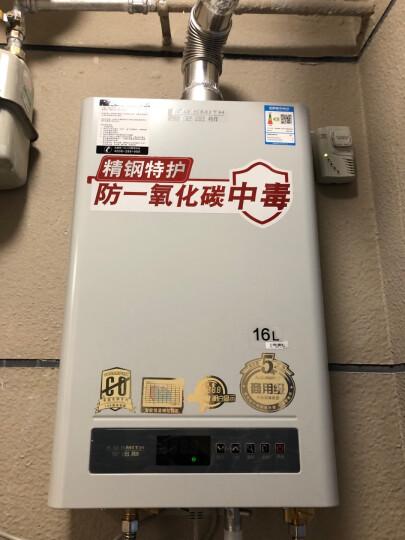 史密斯(A.O.Smith) 16升燃气热水器 家用 CO主动防护 智能恒温精控 JSQ33-D6(天然气) 晒单图