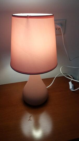 盏爱马卡龙粉色台灯卧室床头灯创意简约现代陶瓷灯具 北欧式温馨公主暖光小夜灯 马卡龙粉红大号+LED三档调光灯泡 晒单图