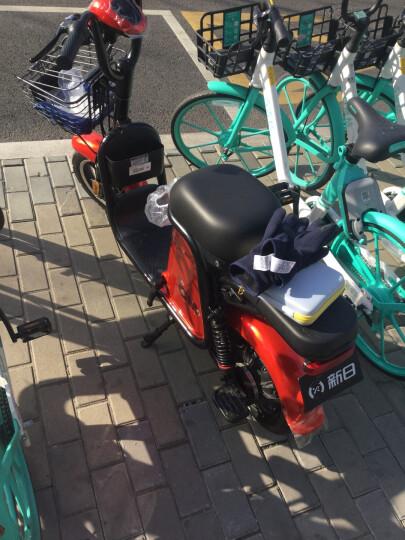 新日(Sunra)电动自行车新国标锂电池代步车成人轻便小型电瓶车脚踏男女单车脚踏 C1 48V12AH电池极光炫白/海棠红/科技蓝 晒单图