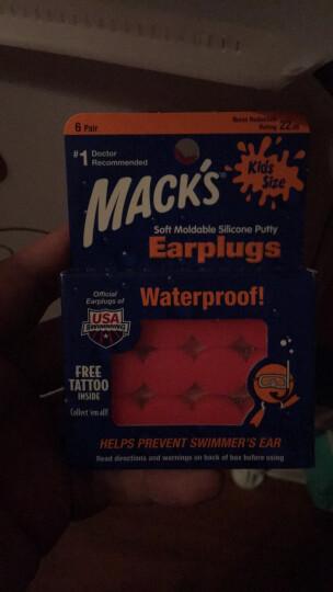 MACK'S 游泳耳塞 美国进口 软硅胶 洗澡用耳塞 游泳装备用品 透明 2副装 晒单图