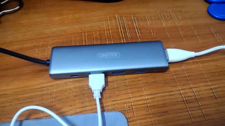 优越者(UNITEK)usb分线器 3.0带电源  4口HUB多接口扩展转换器1.2米 笔记本台式机电脑一拖四集线器Y-3098CBK 晒单图