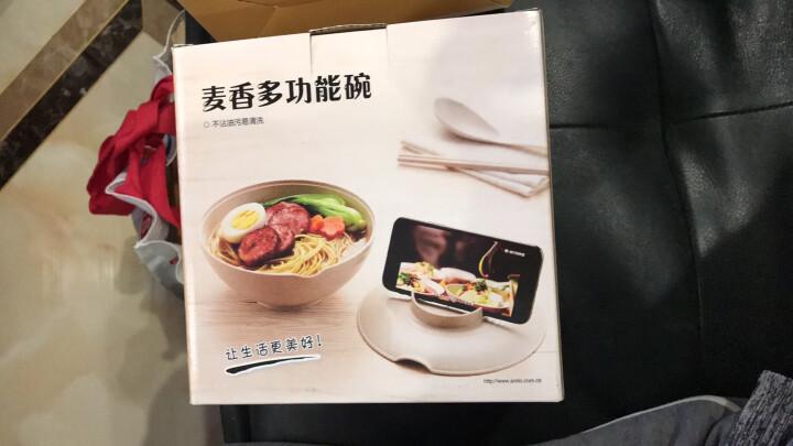 爱思得(Arsto)稻壳泡面碗带盖大号多功能餐具套装带筷勺微波炉可用5197粉色 晒单图