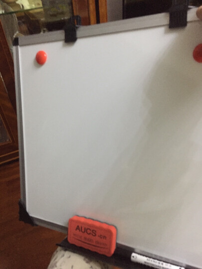 AUCS 30*45cm 白板写字板 办公会议家用教学涂鸦磁性小黑板白板挂式看板 QUR3045L 晒单图