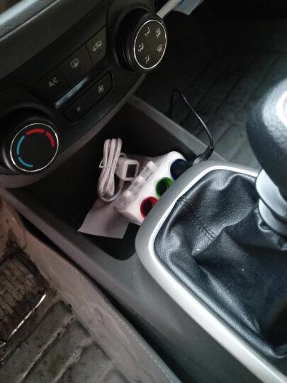 现代(HYUNDAI)车载充电器一拖三点烟器一分三一拖二双USB汽车充电器独立开关 普通款白色 晒单图