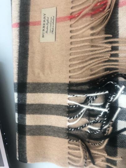 BURBERRY 巴宝莉围巾 中性款羊毛围巾经典格子山羊绒围丝巾 石色羊绒 3954673 晒单图