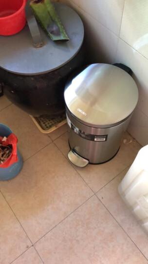得力(deli)11L时尚脚踏不锈钢垃圾桶  低噪防臭液压缓降卫生桶 晒单图