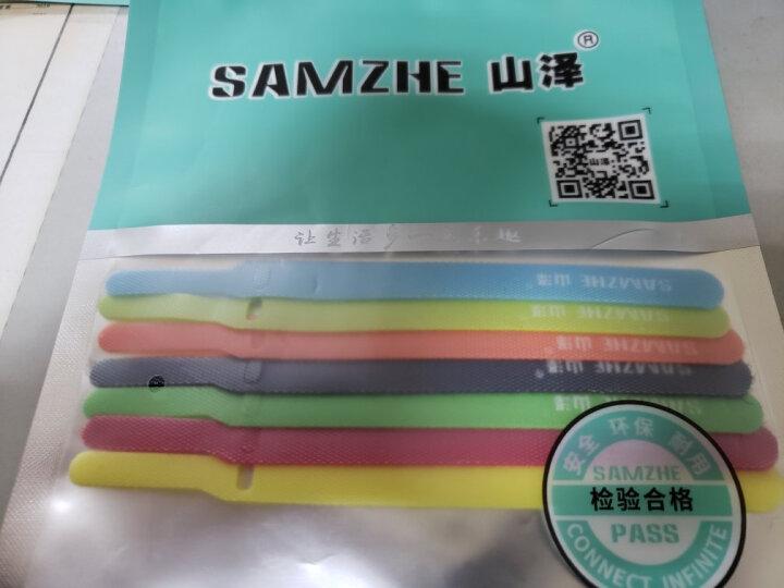 山泽(SAMZHE)魔术贴 电脑线反扣理线器 五色大支25*350mm 扎/捆/绑/束线带 五色套装 MST-04 晒单图