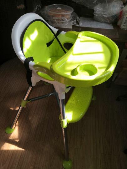 【三重变形】贝利亚 儿童餐椅 婴儿多功能餐桌椅宝宝便携塑料餐椅 红白色升级摇椅功能(坐垫+透明餐盘) 晒单图