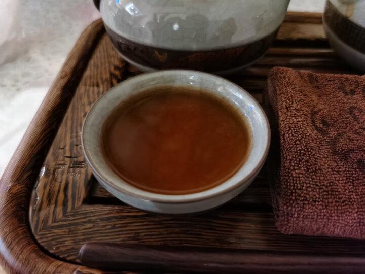 大益普洱茶 茶叶 7572标杆熟茶  357g/饼 随机批次 2010一饼装 晒单图