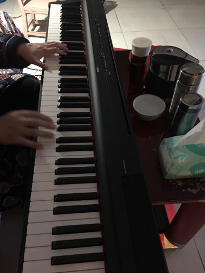 【雅马哈电钢琴P125B/WH】YAMAHA电钢88键重锤智能电子钢琴儿童成人初学便携式黑白色 P125黑主机+木架+三踏板+双人琴凳全套配件 晒单图