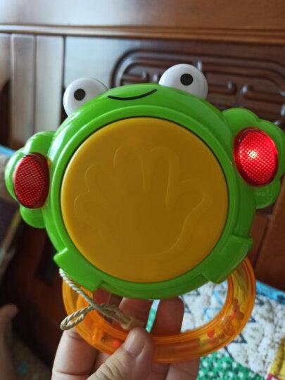 澳贝(AUBY)儿童玩具 青蛙小鼓婴幼儿童手拍鼓音乐鼓声光音乐儿童节礼物(新旧配色随机发货)461201 晒单图