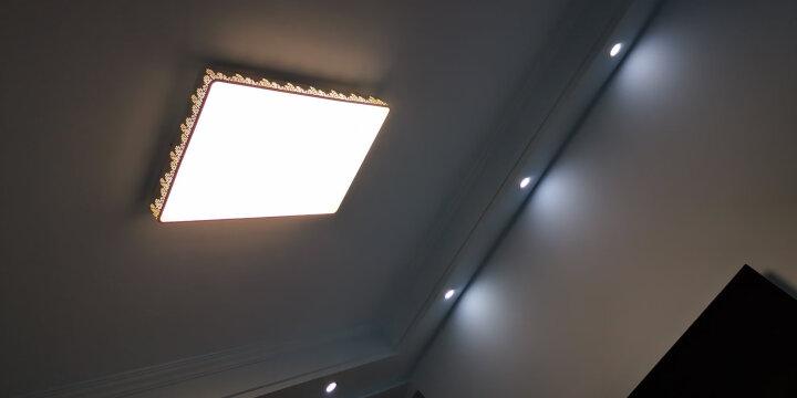 欧普照明(OPPLE)厨卫灯 led平板灯集成吊顶天花板铝扣面板厨房卫生间嵌入式300*300 银色白光 10W 晒单图
