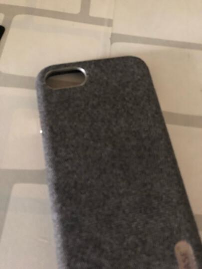 ESCASE 苹果8/7手机壳 iPhone8/7手机套 4.7英寸混纺毛绒精纺布艺全包防摔保护壳 铝合金按键 商务版至臻黑 晒单图