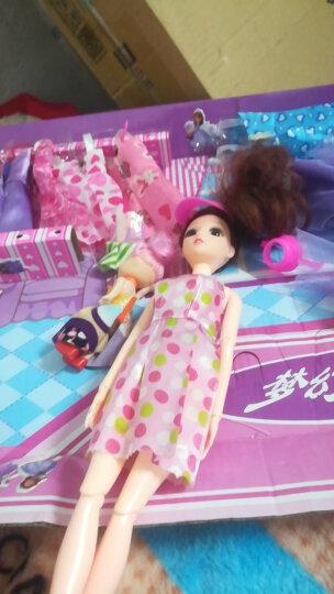【灯光音乐165件】晴雪芭比娃娃洋娃娃套装大礼盒儿童玩具女孩巴比公主过家家婚纱女孩礼物 【会唱歌】八娃810-6D粉白红+2戒指4耳环 12关节 晒单图