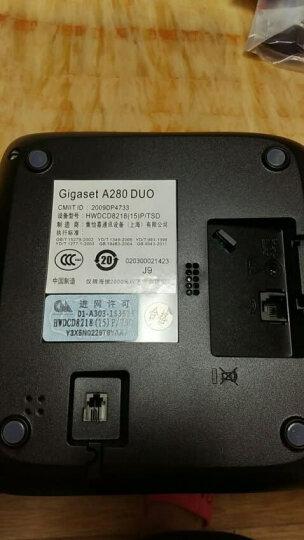 Gigaset原西门子无绳电话机 无线座机 子母机一拖三 办公家用固定固话 中文显示 内部三方通话A280套装(白) 晒单图