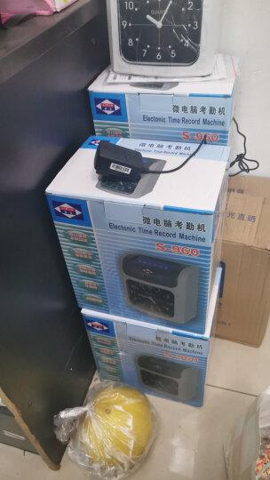 爱宝(Aibao) S-960打卡机考勤机微电脑上班打卡机纸卡式签到打卡钟 液晶 停电可用+24位卡架+200张卡纸 晒单图